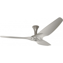 "Haiku Luxe Series Ceiling Fan: 60"", Satin Nickel Full Appearance, Low Profile Mount"