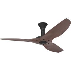 Haiku Indoor Ceiling Fan: 132 cm, Cocoa Bamboo, Low Profile Mount: Black