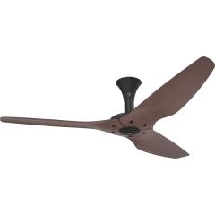 Haiku Indoor Ceiling Fan: 152 cm, Cocoa Bamboo, Low Profile Mount: Black