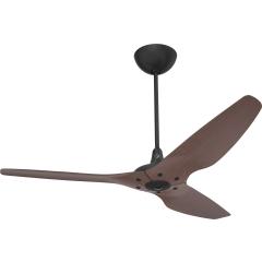 Haiku Indoor Ceiling Fan: 152 cm, Cocoa Bamboo, Universal Mount: Black