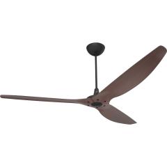 Haiku Indoor Ceiling Fan: 210 cm, Cocoa Bamboo, Universal Mount: Black