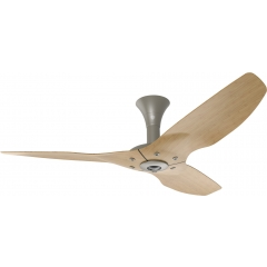 "Haiku Indoor Ceiling Fan: 52"", Caramel Bamboo, Low Profile Mount: Satin Nickel"