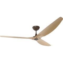 "Haiku Indoor Ceiling Fan: 84"", Caramel Bamboo, Universal Mount: Oil-Rubbed Bronze"