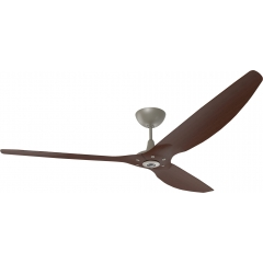 "Haiku Indoor Ceiling Fan: 84"", Cocoa Bamboo, Universal Mount: Satin Nickel"