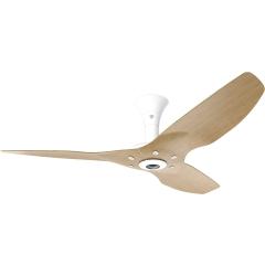 """Haiku Indoor Ceiling Fan: 52"""", Caramel Bamboo, Low Profile Mount: White"""