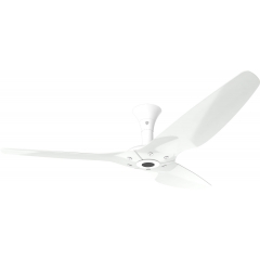 Haiku Outdoor Ceiling Fan 1.5m, White Aluminium, Low Profile Mount: White