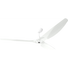 Haiku Outdoor Ceiling Fan 2.1m, White Aluminium, Universal Mount: White