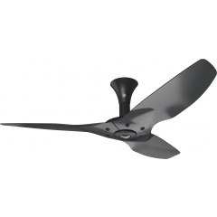 "Haiku Luxe Series Ceiling Fan: 52"", Aluminum Black, Low Profile Mount: Black"