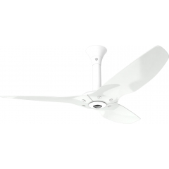 "Haiku Luxe Series Ceiling Fan: 52"", Aluminum White, Standard Mount: White"