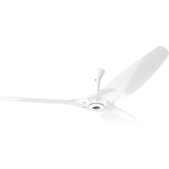 "Haiku Luxe Series Ceiling Fan: 60"", Aluminum White, Low Profile Mount: White"