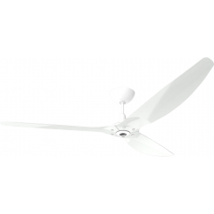 "Haiku Luxe Series Ceiling Fan: 84"", Aluminum White, Universal Mount: White"
