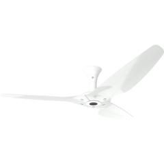 "Haiku Outdoor Ceiling Fan: 60"", White Aluminum, Low Profile Mount: White"