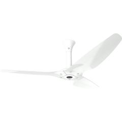 "Haiku Outdoor Ceiling Fan: 60"", White Aluminum, Standard Mount: White"