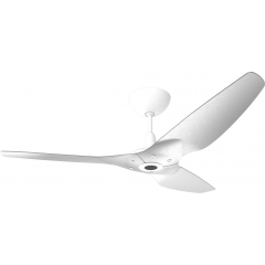 "Haiku Outdoor Ceiling Fan: 60"", Brushed Aluminum, Universal Mount: White"