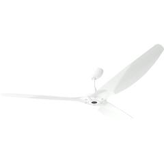 "Haiku Outdoor Ceiling Fan: 84"", White Aluminum, Universal Mount: White"
