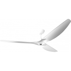 "Haiku Outdoor Ceiling Fan: 84"", Brushed Aluminum, Universal Mount: White"