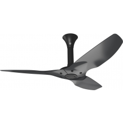 "Haiku Outdoor Ceiling Fan: 52"", Black Aluminum, Standard Mount: Black"