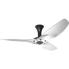 "Haiku Outdoor Ceiling Fan: 52"", Brushed Aluminum, Low Profile Mount: Black"