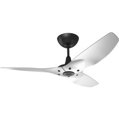 "Haiku Outdoor Ceiling Fan: 52"", Brushed Aluminum,  Universal Mount: Black"