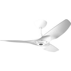 "Haiku Outdoor Ceiling Fan: 52"", Brushed Aluminum, Universal Mount: White"