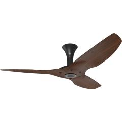 "Haiku Outdoor Ceiling Fan: 52"", Cocoa Woodgrain Aluminum, Low Profile Mount: Black"