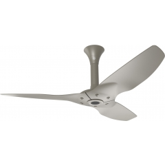 "Haiku Outdoor Ceiling Fan: 52"", Satin Nickel Full Appearance, Standard Mount"