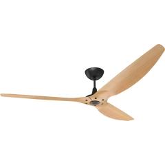 "Haiku Outdoor Ceiling Fan: 84"", Caramel Woodgrain Aluminum, Universal Mount: Black"