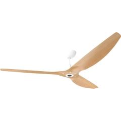 """Haiku Outdoor Ceiling Fan: 84"""", Caramel Woodgrain Aluminum, Universal Mount: White"""