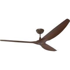 """Haiku Outdoor Ceiling Fan: 84"""", Cocoa Woodgrain Aluminum, Universal Mount: Oil-Rubbed Bronze"""