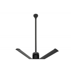 "i6 Black 48"" Downrod (flat/sloped ceiling 16 - 18 ft.)"