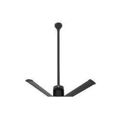 """i6 Black 48"""" Downrod (flat/sloped ceiling 16 - 18 ft.)"""