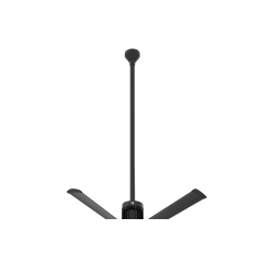 "i6 Black 60"" Downrod (flat/sloped ceiling 18.5 - 20 ft.)"