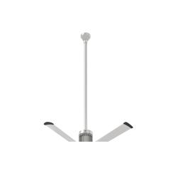 """i6 Brushed Aluminum 60"""" Downrod (flat/sloped ceiling 18.5 - 20 ft.)"""
