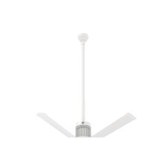 """i6 White 48"""" Downrod (flat/sloped ceiling 16 - 18 ft.)"""