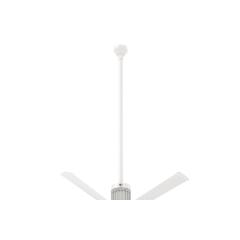 """i6 White 60"""" Downrod (flat/sloped ceiling 18.5 - 20 ft.)"""
